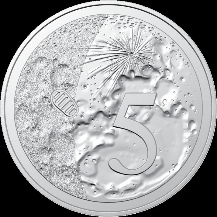 Австралия 5 центов 50-летие посадки на Луну, реверс