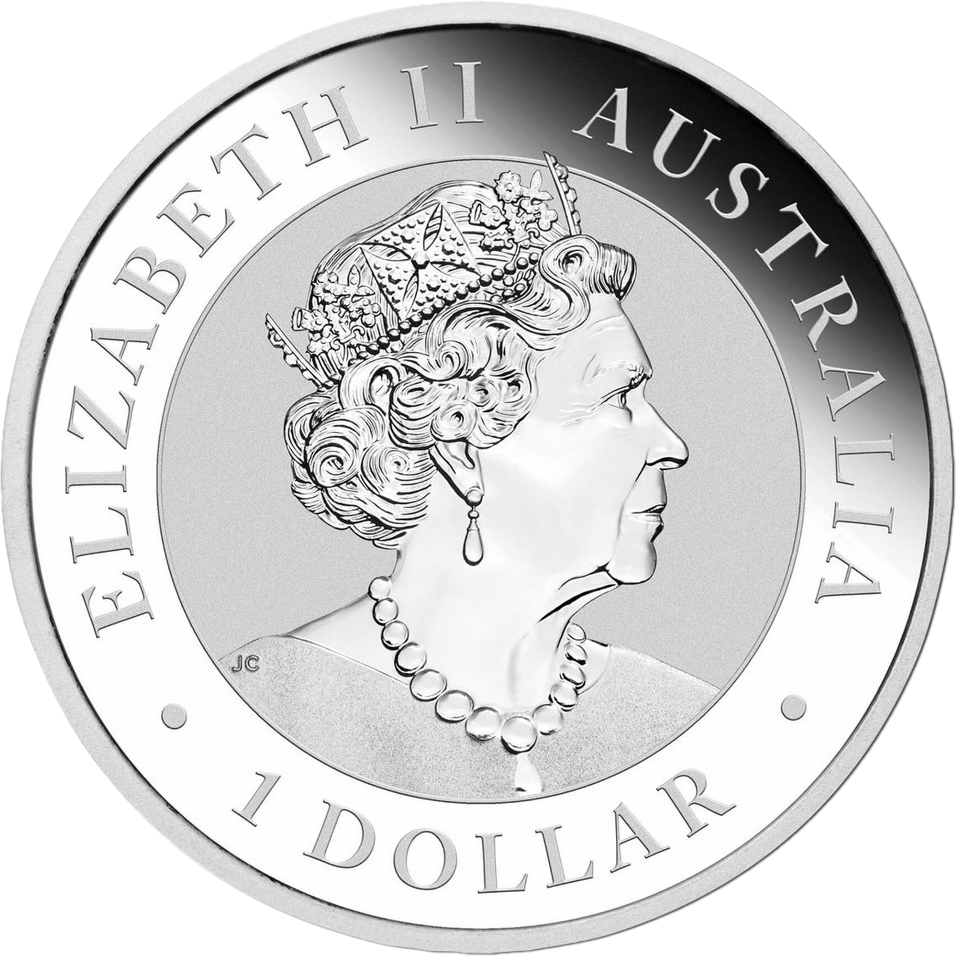 Австралия монета 1 доллар 2019 год, серебро, аверс