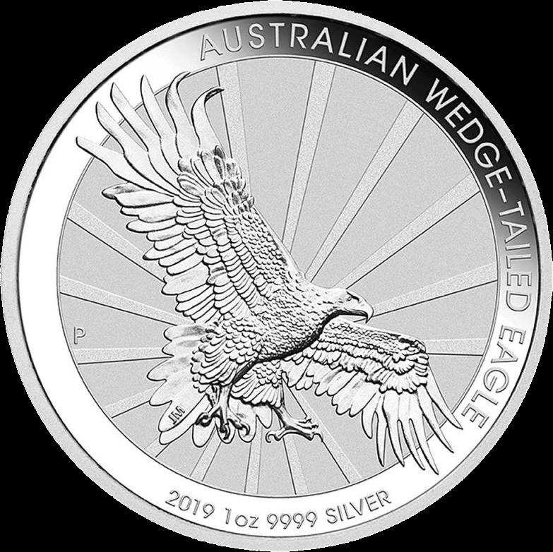 Австралия монета 1 доллар Клинохвостый орел, 2019 год, реверс