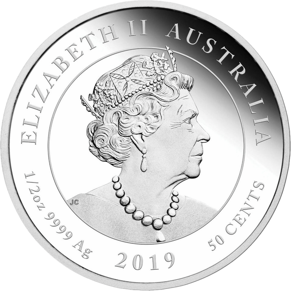 Австралия монета 50 центов, 2019 год, серебро, аверс