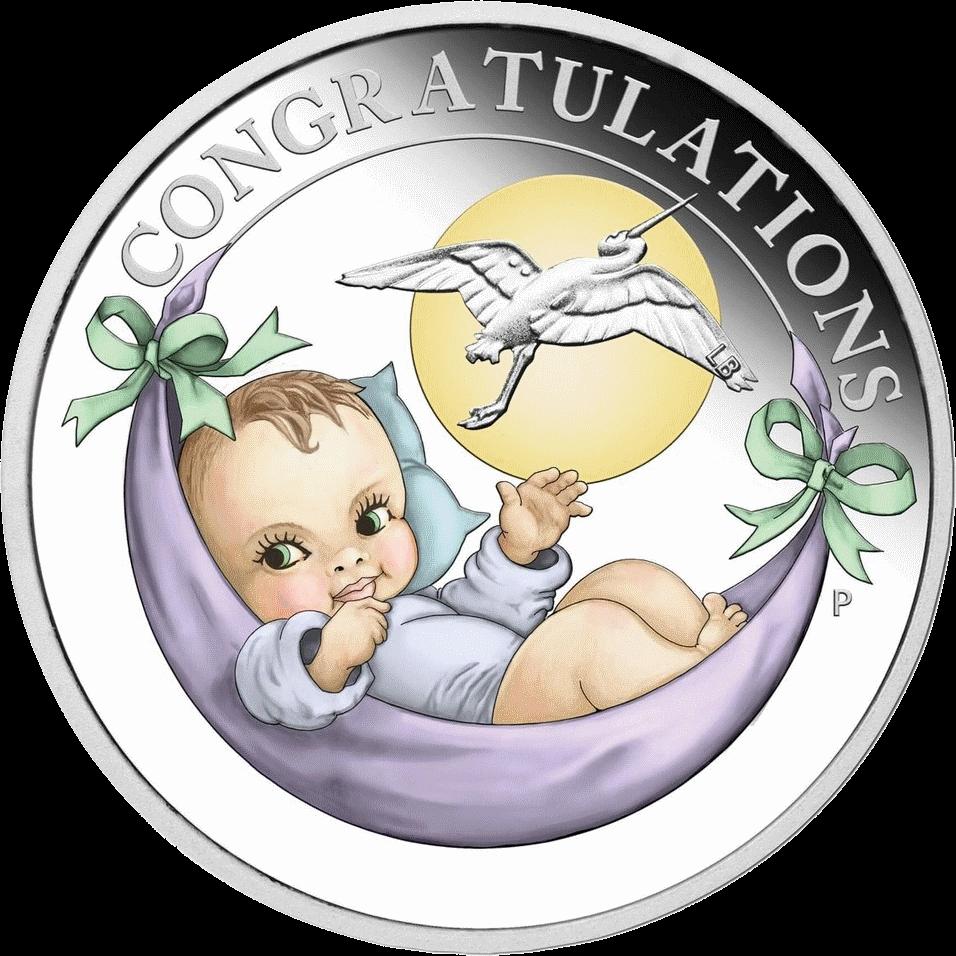 Австралия монета 50 центов Поздравления с новорожденным, аверс