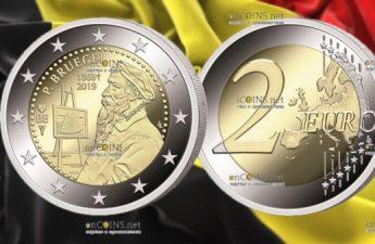 Бельгия монета 2 евро Питер Брейгель