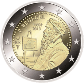 Бельгия монета 2 евро Питер Брейгель, реверс