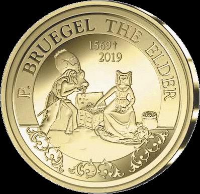 Бельгия монета 50 евро Питер Брейгель, реверс