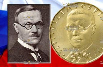 Чехия монета 20 крон Вилем Поспишил