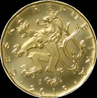 Чехия циркуляционная монета 20 крон, 2019 год, аверс