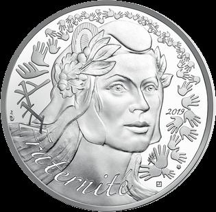 Франция Монета 100 евро Марианна - Символ Французской республики 2019, реверс