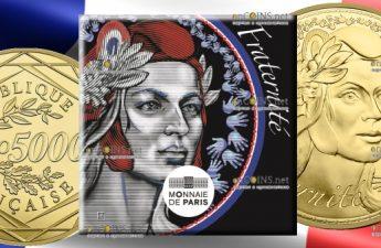 Франция Монета 5000 евро Марианна - Братство