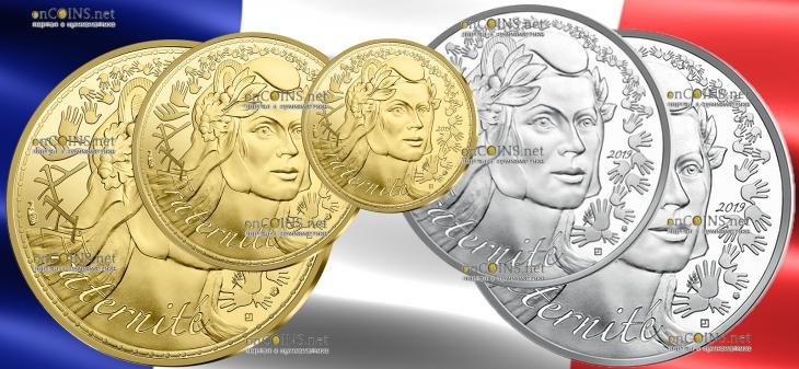 Франция монеты серии Марианна - Братство