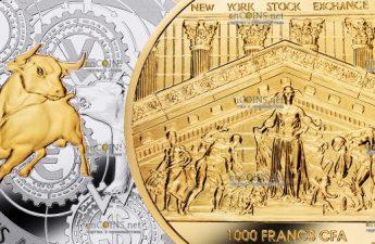 Камерун монета-амулет 1000 франков КФА Победитель берет все