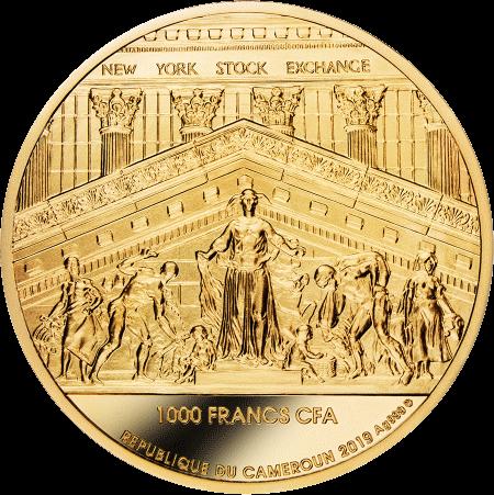 Камерун монета-амулет 1000 франков КФА Победитель берет все, аверс