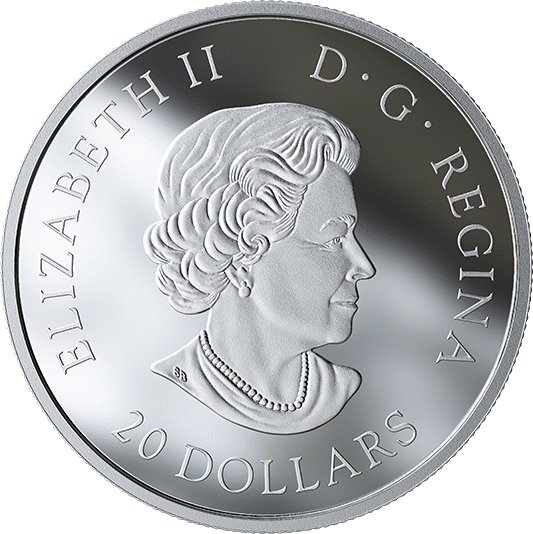 Канада монета 20 долларов серии Флора Канада, аверс