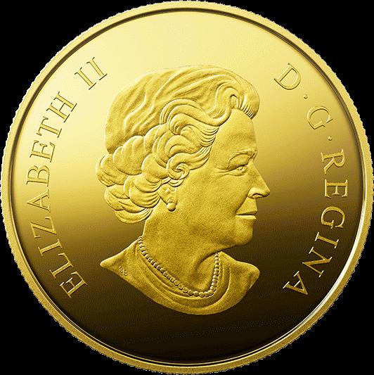 Канада монета 200 долларов Прибытие европейцев, аверс