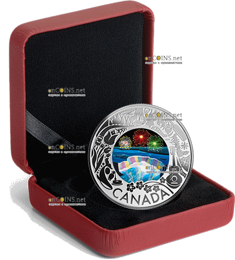 Канада монета 3 доллара Катание на собачьих упряжках, подарочная упаковка