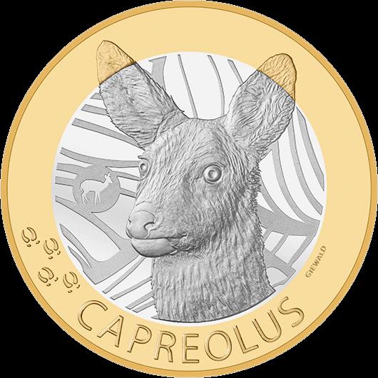 Швейцарии монета 10 франков Косуля, реверс