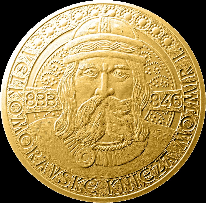 Словакии монета 100 евро Моймир I - правитель Великой Моравии, реверс