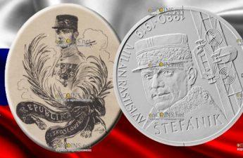 Словакия монета 10 евро Милан Растислав Штефаник