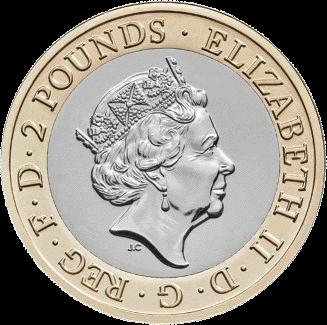 Великобритания монета 2 фунта 2019 год, аверс