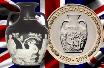 Великобритания монета 2 фунта 260-летие фирмы Веджвуда