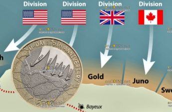 Великобритания монета 2 фунта День Д
