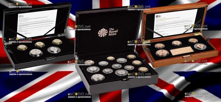 Великобритания три варианта подарочной упаковки для серии памятных монет 2019 года