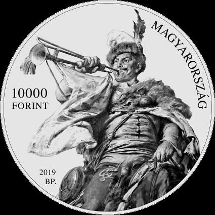 Венгрия монета 10 000 форинтов Дьюла Бенцур, аверс