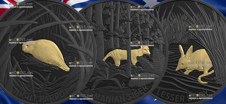 Австралия серия монет Отголоски австралийской фауны, 2019 год