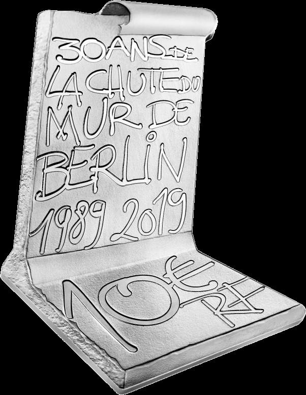 Франция 3D монета 10 евро Падения Берлинской стены, реверс