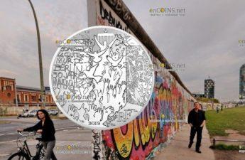 Франция монета 10 евро Падения Берлинской стены