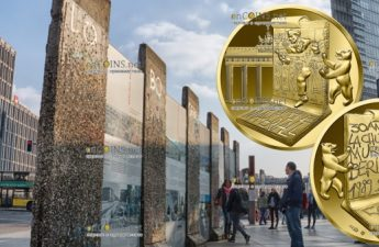 Франция монета 50 евро Падения Берлинской стены