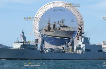 Испания монета 1,5 евро корабль ВМС Испании Патиньо