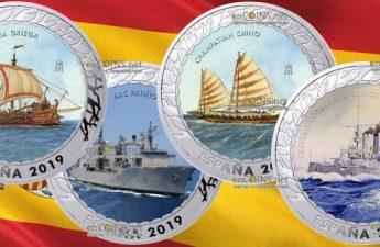 Испания вторая серия монет История судоходства