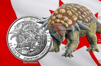 Канада монета 25 центов Эдмонтония