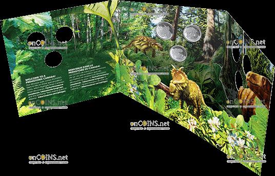 Канада монеты серии Динозавры Канады 2019 год, подарочная упаковка 1
