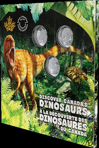 Канада монеты серии Динозавры Канады 2019 год, подарочная упаковка