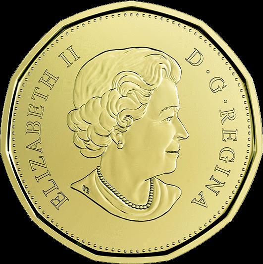 Канада циркуляционная монета 1 доллар 2019 год, аверс