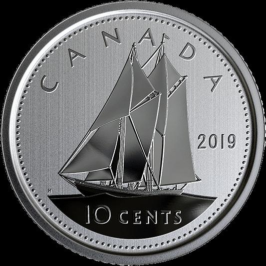 Канада циркуляционная монета 10 центов 2019 год, реверс