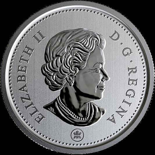 Канада циркуляционная монета 25 центов 2019 год, аверс