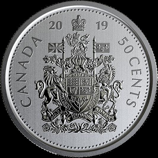 Канада циркуляционная монета 50 центов 2019 год, реверс