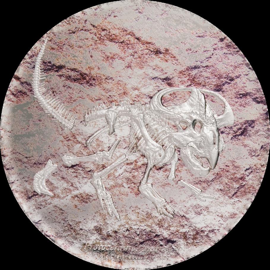 Монголия монета 2000 тугриков Протоцератопс, реверс