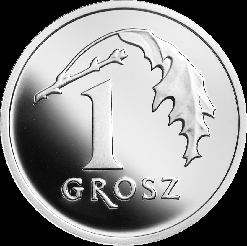 Польша монета 1 грош 100 лет злотому, серебро, реверс