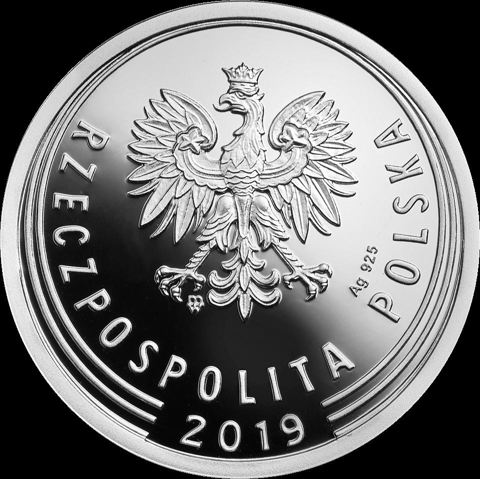 Польша монета 1 злотый 100 лет злотому, серебро, аверс