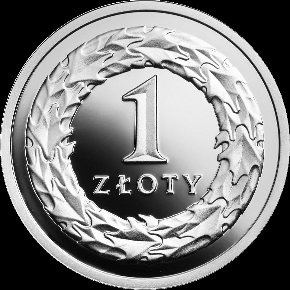 Польша монета 1 злотый 100 лет злотому, серебро, реверс