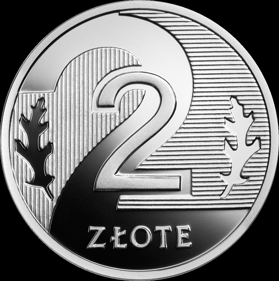 Польша монета 2 злотых 100 лет злотому, серебро, реверс