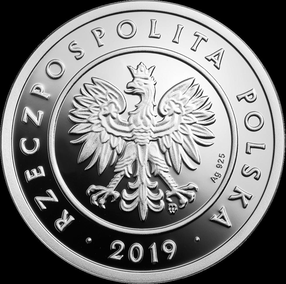 Польша монета 5 злотых 100 лет злотому, серебро, аверс