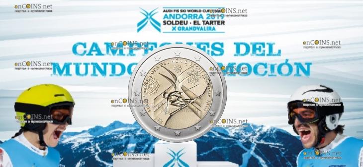 Андорра монета 2 евро Финал Кубка Мира по горнолыжному спорту