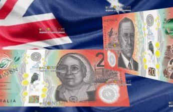 Австралия банкнота 20 долларов 2019 год