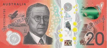 Австралия банкнота 20 долларов 2019 год, оборотная сторона