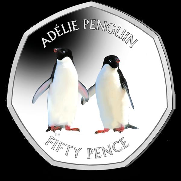 Британской антарктической территории монета 50 пенсов, реверс
