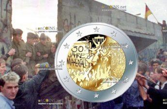 Франция монета 2 евро Падения Берлинской стены